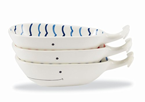 Mud Pie Anchors Aweigh Dining Nautical Stacked Dip Cup Set (Whale)