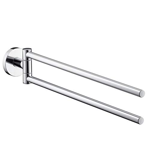 Hansgrohe 40512820 S and E Accessories Dual Towel Bar, Brushed Nickel (Hansgrohe Nickel Holder)
