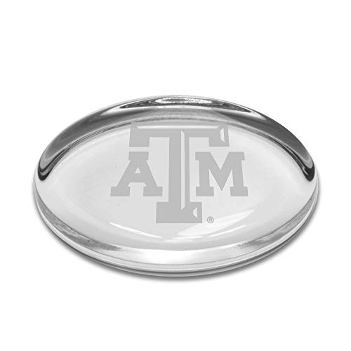 NCAA Texas A&M Aggies Oval Paperweight, Clear, One Size