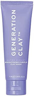 Generation Clay Mask - Ultra Violet Brightening Australian Clay Mask - Rejuvenates Dark Circles - SUPER SIZE Tube 100gr. / 3.97oz.
