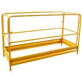 Pro-Series Painting Patching Drywall Window Cleaning 6Foot Scaffolding Guard Rail System Yellow ()