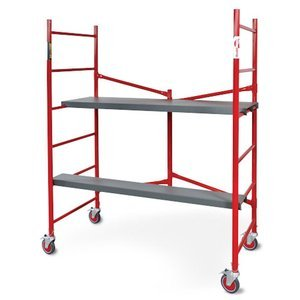 Metaltech - I-BM6S - Portable Scaffold, Steel, Adjustable Platform Height, 6 ft. Overall Height, 2000 lb. Load Capacity