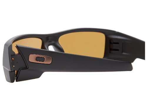 oakley mens gascan polarized asian fit sunglasses  oakley men's gascan polarized asian fit sunglasses (matte black frame/bronze polarized lens)