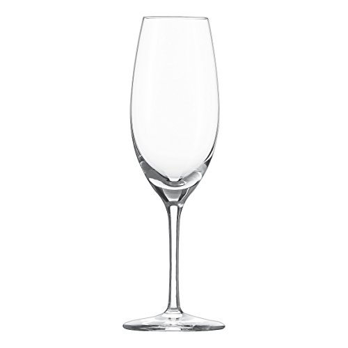 Schott Zwiesel Tritan Crystal Glass Cru Classic Stemware Collection Champagne Flute with Effervescence Points, 8.4-Ounce, Set of (Classic Champagne Collection)