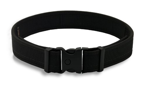 Uncle Mike's 87731 Law Enforcement Kodra Nylon Web Ultra Duty Belt without Hook & Loop Lining, Medium (32-36 Inches), Black