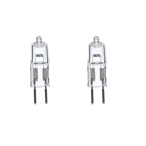 2 Pack 35 Watt 35W 12V 12 Volt G6.35 Bi-Pin JC Type Halogen Light Bulb GY6.35 by Bluex Bulbs