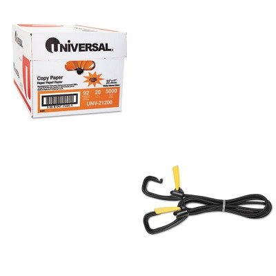 Kantek Bungee Cord - KITKTKLGLC10UNV21200 - Value Kit - Kantek Bungee Cord w/Locking Clasp (KTKLGLC10) and Universal Copy Paper (UNV21200)
