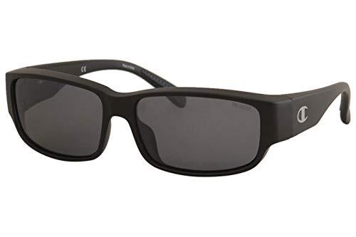 (Champion Men's CU6060 CU/6060 C01 Matte Black Wrap Polarized Sunglasses 59mm (Black, 59))