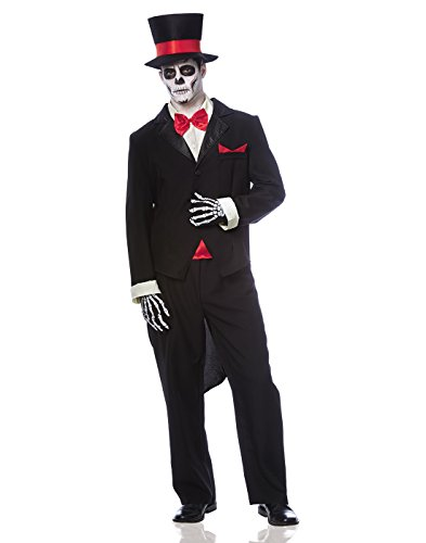 Day of the Dead Groom Costume - Standard - Chest Size -