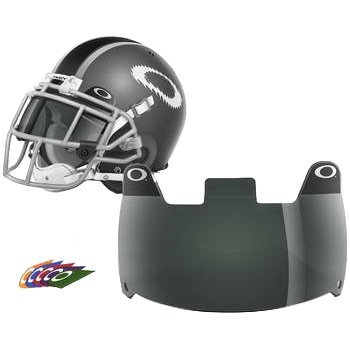 Oakley Football Shield, 45% Grey, One Size (Black Football Visor Tinted)