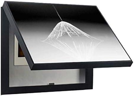 LITING Medidor eléctrico Cuadro de Pintura Decorativa Restaurante con Tapa Cuadro eléctrico Cubierta de Interruptor Caja de Interruptor Pintura de Pared (Color : Black, Size : (50 * 40cm 40 * 30cm)): Amazon.es: Hogar