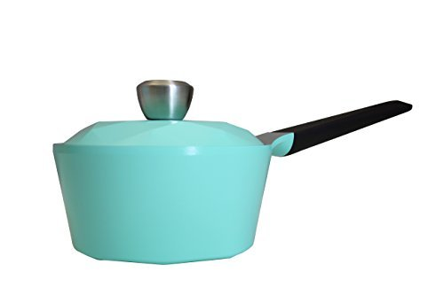Neoflam Carat 1.5QT Ceramic Nonstick Sauecpan in Fresh Green by Neoflam