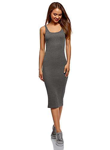 (oodji Ultra Women's Midi Cami Dress, Grey, 0)