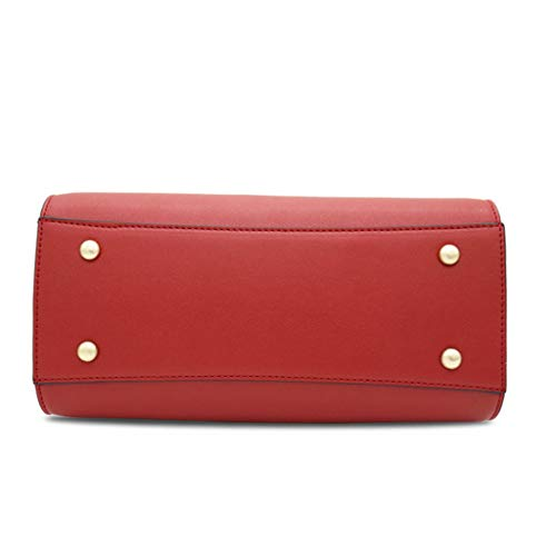 bandoulière à sac sac Sac à simple bandoulière de Red mode carré main dames à XAXHSq