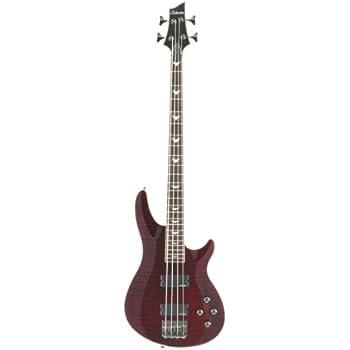 amazon com schecter omen 4 4 string bass guitar black musical rh amazon com