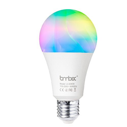 Wifi Smart Led Light bulb,Compatible With Alexa Google Home IFTTT Smart Home Automation Dimmable Warm White E26/E27 light bulb 9W(60W Equivalent) A19 RGBW Color Changing Mood Light by Lombex