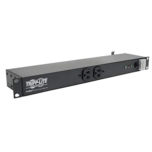 Tripp Lite Isobar 12-Outlet Surge Protector, 15ft. Cord, 15A, 1U Rack-Mount, Metal, & $25,000 INSURANCE (ISOBAR12ULTRA)