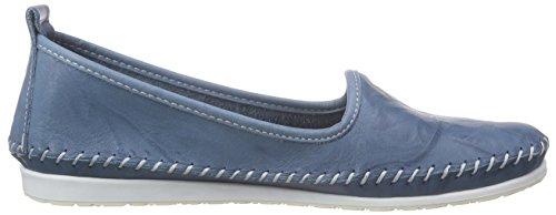 Andrea Conti 0027449 Damen Slipper Blau (bleu 013)