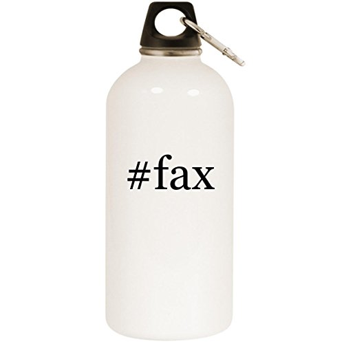 Molandra Products #fax - White Hashtag 20oz Stainless Steel Water Bottle with ()