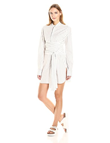 Baja-East-Womens-Wide-Stripe-Poplin-T-Shirt-Dress-with-Tie