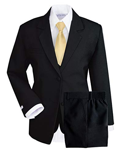 - Spring Notion Boys' Formal Dress Suit Set 3T Black Suit Antique Gold Tie