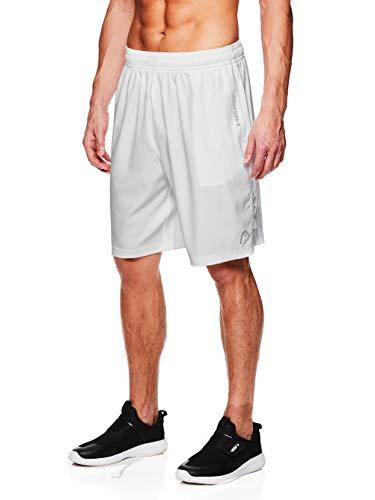 - HEAD Men's Break Point Mesh Insert Workout Gym & Running Shorts w/ Elastic Waistband & Drawstring - Break Stark White, Medium