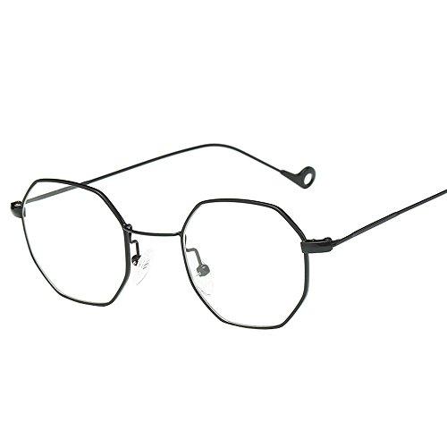 iYBUIA Womens Men Fashion Metal Frame Glasses Non