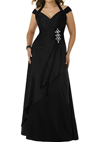 Ab Stillvoll Schwarz Brautbegleiterinkleid Ivydressing der Lang Damen Taft von Abendkleid Schulter vA5Zw7qxwE