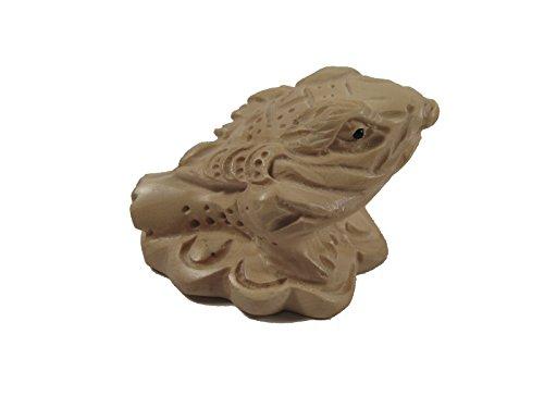 Boxwood Netsuke Carving Frog ()