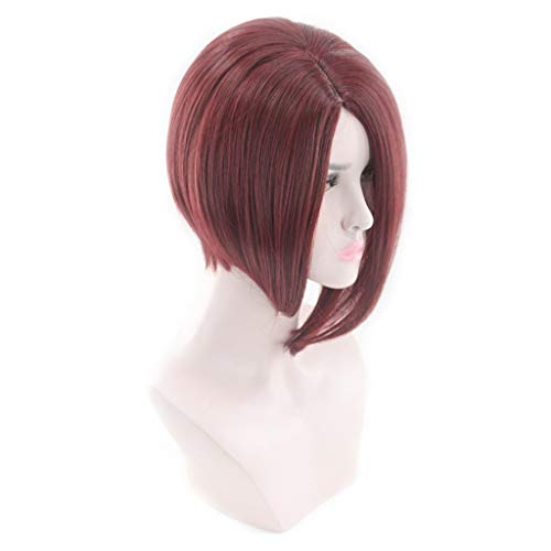 Anboo Short Bob Wig Party Custome Daily Wigs Female Fashion Short Hair African Hair Black Brazilian Natural Synthetic Wig Hair
