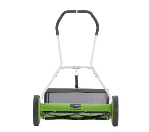 Greenworks 18 Inch Reel Lawn Mower Walk Behind Lawn Mowers