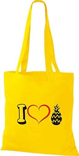 Shirtstown - Bolso de tela de algodón para mujer amarillo