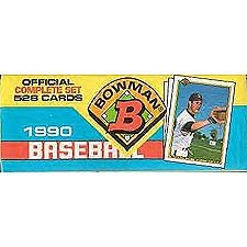 1990 Bowman Baseball Factory Set [Toy] (Bowman Baseball 1990)