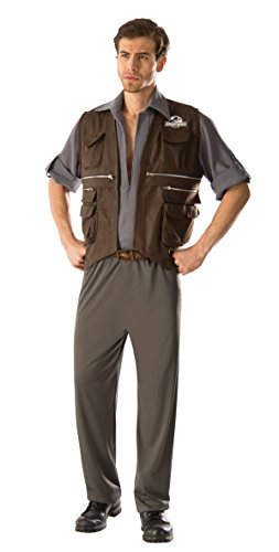 Men's Jurassic World Deluxe Owen Costume, Multi, Standard
