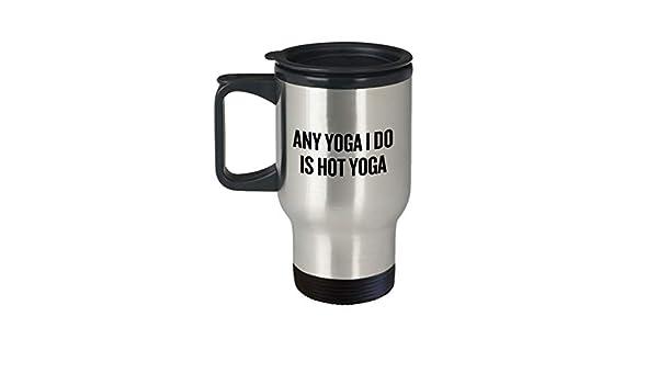 Divertida taza de viaje para yoga o yoga: Amazon.es: Hogar