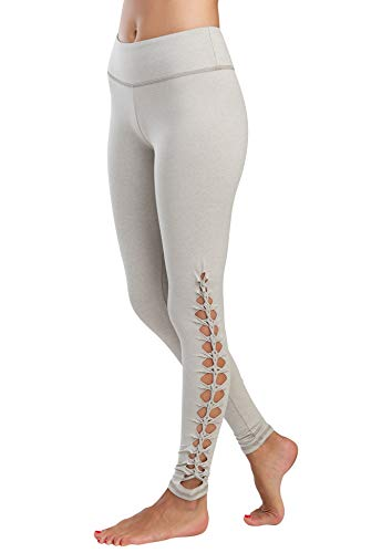 Jala Women's Lotus Legging, Oatmeal, Small