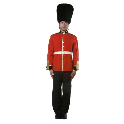 British Red Coat Costume (Dress Up America Adult Royal Guard, Multi-Colored, Medium)