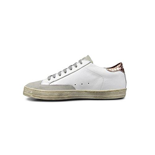 P448 Womens John Italian Leather White/Copper Sneaker White/Copper j5hWcz