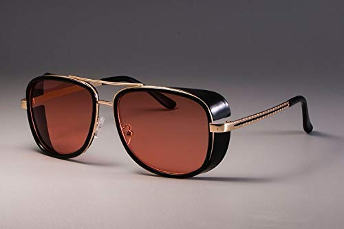 GFF Iron Man 3 Matsuda Tony Sunglasses Men Mirrored Glasses Fashion Eyewear UV ()