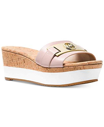 Michael Michael Kors Womens Warren Platform Open Toe Casual Slide Sandals (8 B(M) US, Soft Pink)