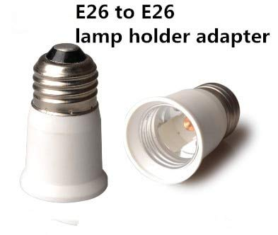 Halica E26 to E26 lamp base CE & RoHS Fire proof PBT adapter converter E26 to E26 lamp holder adapter