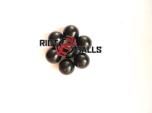 500 Count X 0.43 Cal. Black PVC/Nylon Riot Balls Self Defense Less Lethal Practice Paintball by Riot Balls