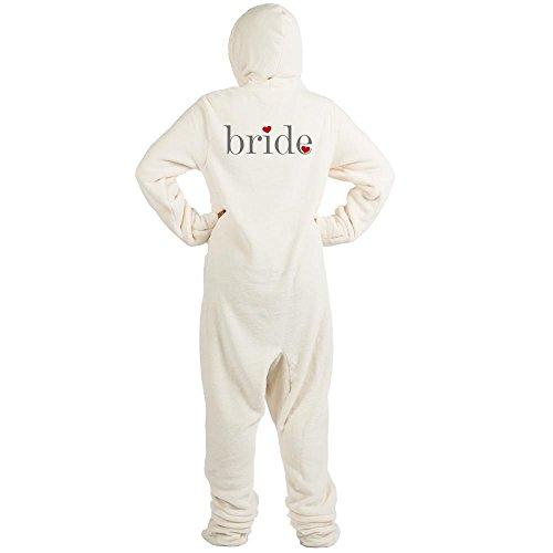 CafePress - Gray Text Bride - Novelty Footed Pajamas, Funny Adult One-Piece PJ Sleepwear ()