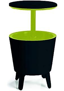 Compra Dawoo 5-Gal Cool Bar Rattan Style Outdoor Patio Pool Cooler Mesa Con Altura Ajustable Al Aire Libre Mimbre Ice Cube Cocktail Coffee Table Para Fiesta(Marrón) en Amazon.es