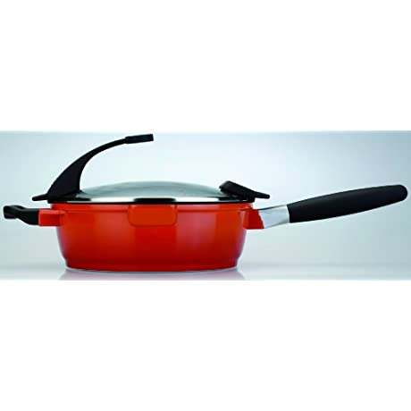 BergHOFF Virgo 4 5 Quart Covered Deep Skillet 11 Orange