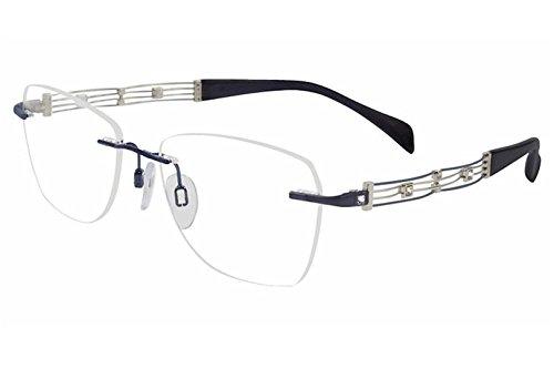 - Charmant Line Art Women's Eyeglasses XL2108 XL/2108 NV Navy Optical Frame 51mm