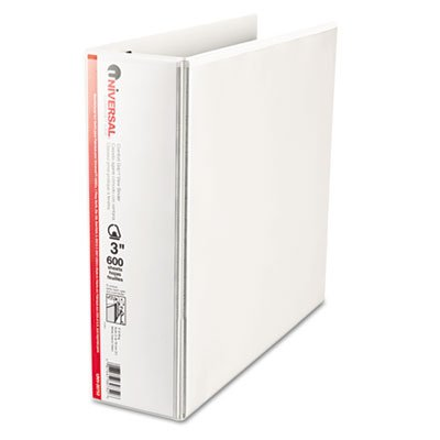 Comfort Grip Deluxe Plus D-Ring View Binder, 3'' Capacity, 8-1/2 x 11, White, Sold as 2 Each