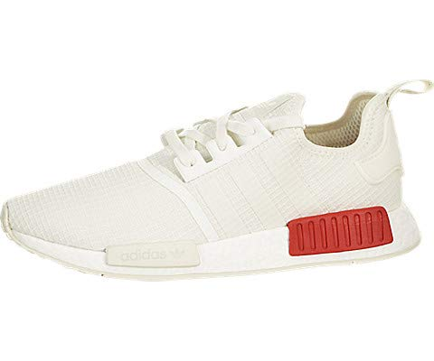 adidas Originals NMD_R1 Shoe Men's Casual 10 Off White-Lush Red (Original Casual Shoe)