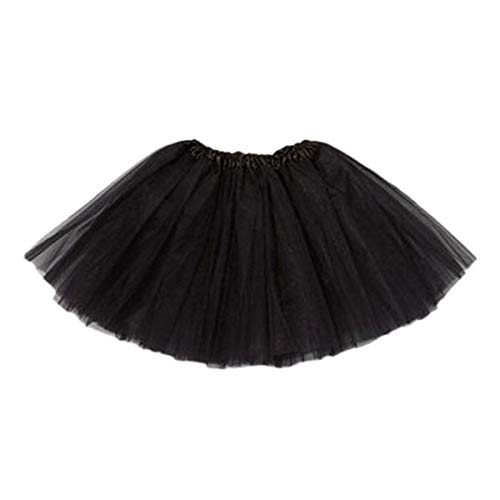 (Kingspinner Baby Girls Ballet Tutu Skirt Princess Pettiskirt Party Mini Dress (Black,)