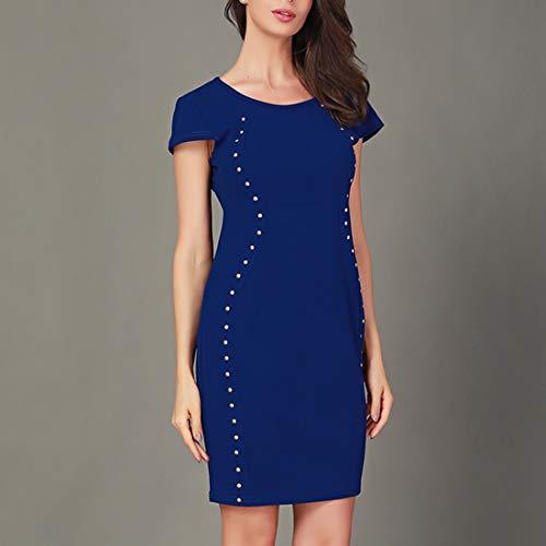 Tinta Blue Sexy Da Donna Camicetta Corte Maniche Unita Black In M Ploekgda Slim A Size color gZz0xqwU